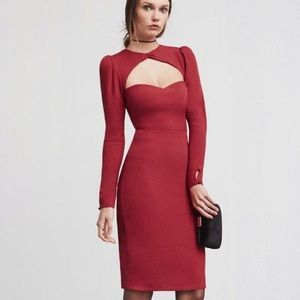 Reformation New Laselle Dress Cherry Bomb size 0